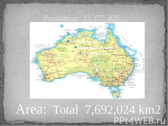 Population: 23,377,368