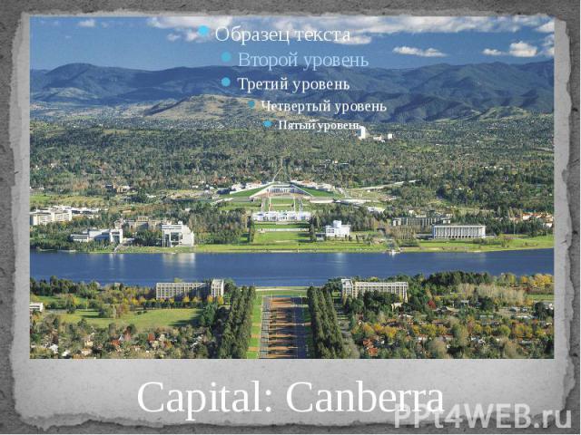 Capital: Canberra