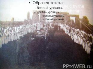 The 1905 mass initiation ritual held by the Ancient Order of Druids at