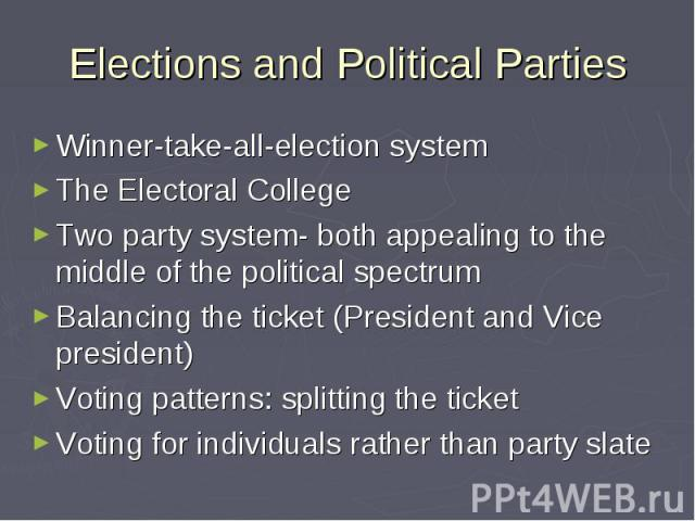 political parties party and electoral systems 3 electoral systems are important in at least two ways first, they have significant political consequences electoral systems shape the nature of parties and party systems,.