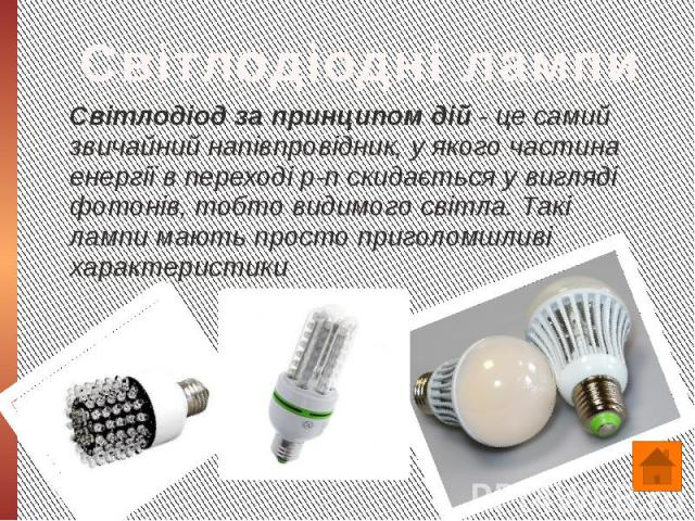 Світлодіод за принципом дій - це самий звичайний напівпровідник, у якого частина енергії в переході p-n скидається у вигляді фотонів, тобто видимого світла. Такі лампи мають просто приголомшливі характеристики Світлодіод за принципом дій - це самий …