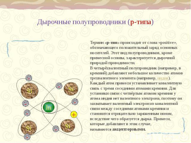 Дырочные полупроводники (р-типа)