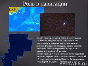Роль в навигации