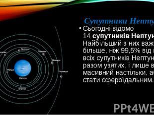 Супутники Нептуна: Сьогодні відомо 14супутниківНептуна. Найбільший з