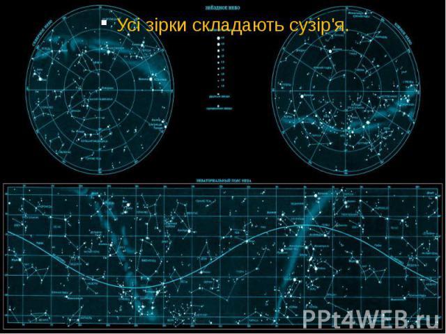 Усі зірки складають сузір'я. Усі зірки складають сузір'я.