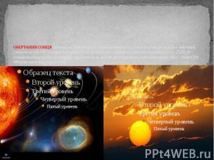 ОБЕРТАННЯ СОНЦЯ навколо осі, відбувається в тому ж напрямку, що і Землі (із захо