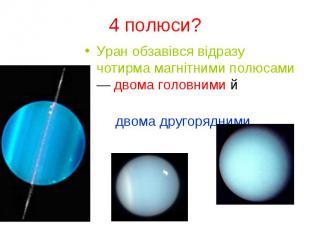Уран обзавівся відразу чотирма магнітними полюсами — двома головними й Уран обза