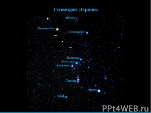 Созвездия «Орион»