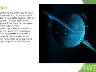 7. Уран Вільям Гершель, який відкрив Уран, хотів назвати його на честь короля Ге