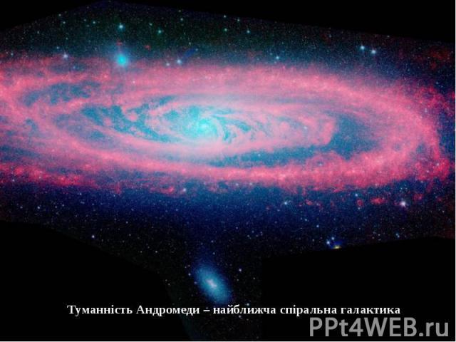 Туманність Андромеди – найближча спіральна галактика