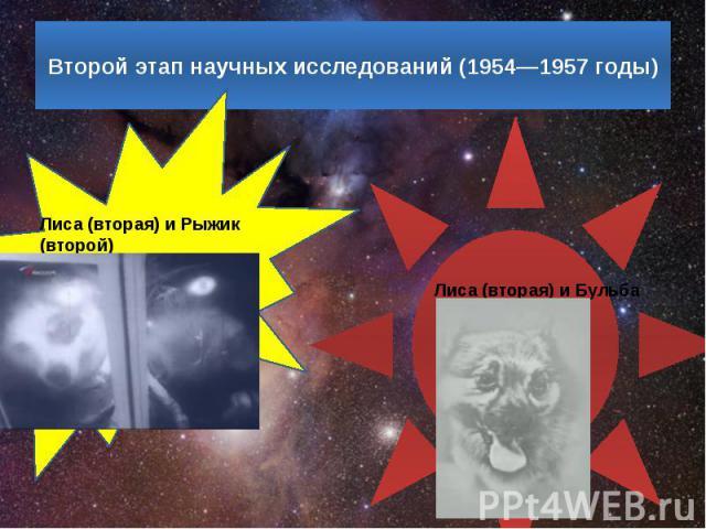 Второй этап научных исследований (1954—1957 годы)