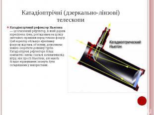 Катадіоптрічні (дзеркально-лінзові) телескопи Катадіоптрічний рефлектор Ньютона