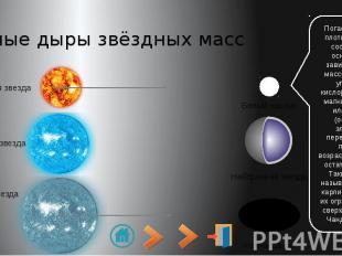 Чёрные дыры звёздных масс