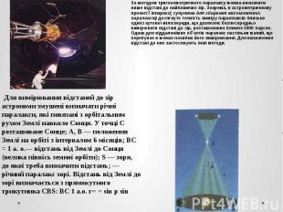 За методом тригонометричного паралаксу можна визначити лише відстані до найближч