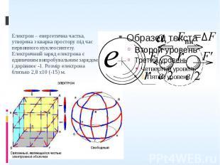 Електрон – енергетична частка, утворена з кварка простору під час