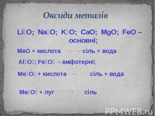 Оксиди металів