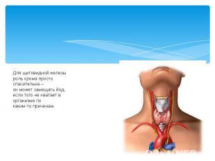 Для щитовидной железы роль хрома просто спасительна – он может замещать йод, есл
