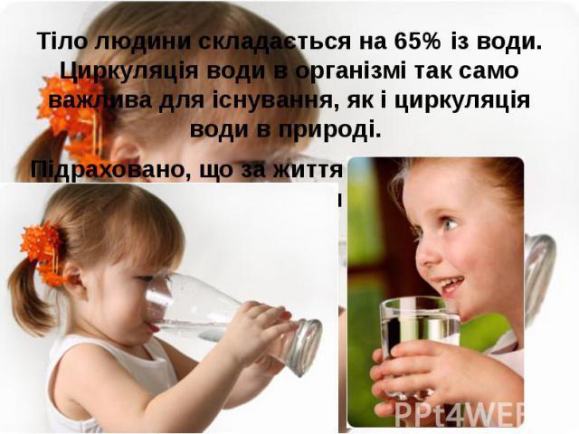 Тіло людини складається на 65% із води. Циркуляція води в організмі так само важлива для існування, як і циркуляція води в природі. Тіло людини складається на 65% із води. Циркуляція води в організмі так само важлива для існування, як і циркуляція в…