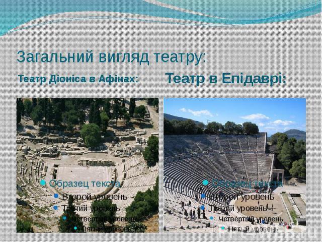 Загальний вигляд театру: Театр Діоніса в Афінах: