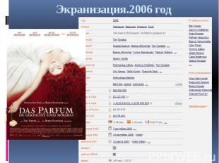 Экранизация.2006 год