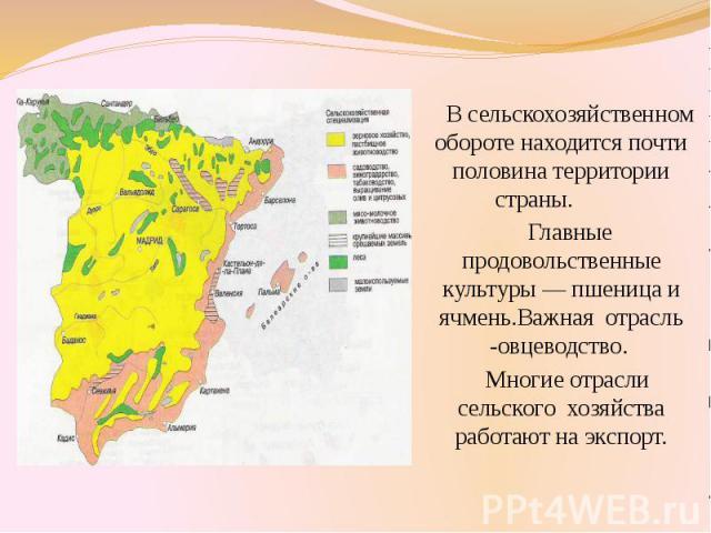 В сельскохозяйственном обороте находится почти половина территории страны. В сельскохозяйственном обороте находится почти половина территории страны. Главные продовольственные культуры — пшеница и ячмень.Важная отрасль -овцеводство. Многие отрасли с…