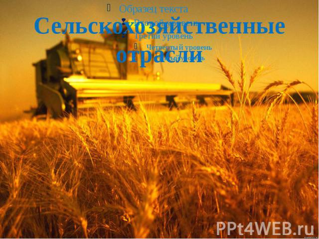 Сельскохозяйственные отрасли