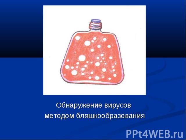 Обнаружение вирусов Обнаружение вирусов методом бляшкообразования