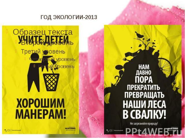 ГОД ЭКОЛОГИИ-2013
