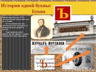 История одной буквы: Буква Реформа правописания 1918 г. отменила и букву Ъ(ер) в
