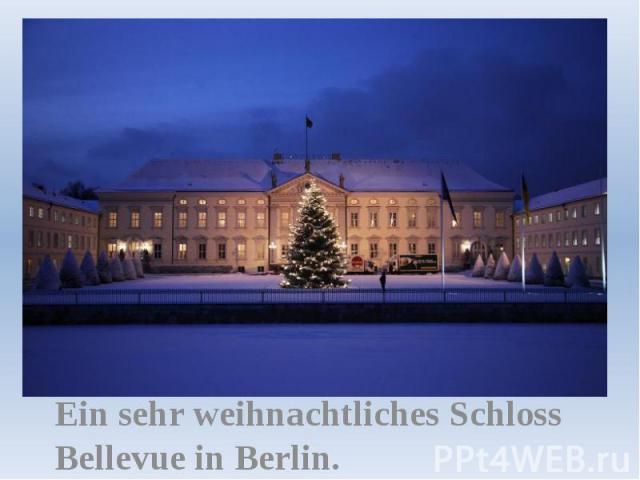 Ein sehr weihnachtliches Schloss Bellevue in Berlin.