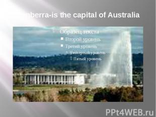 Canberra-is the capital of Australia