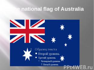 The national flag of Australia
