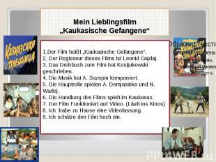 """Mein Lieblingsfilm """"Kaukasische Gefangene"""""""