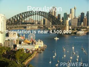 Population Population is near 4,500,000 people.