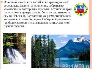 Но есть на самом юге Алтайского края чудесный уголок, где, словно на удивление,