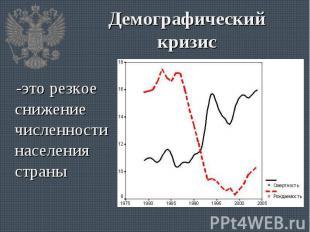 -это резкое снижение численности населения страны -это резкое снижение численнос