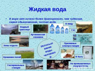 Жидкая вода В мире нет ничего более драгоценного, чем чудесная, самая обыкновенн