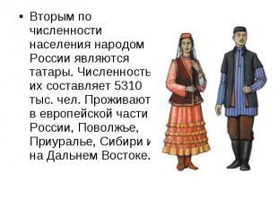 Вторым по численности населения народом России являются татары. Численность их с