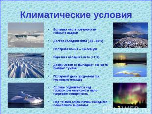 Большая часть поверхности покрыта льдами Большая часть поверхности покрыта льдам