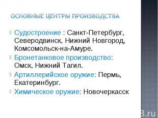 Судостроение : Санкт-Петербург, Северодвинск, Нижний Новгород, Комсомольск-на-Ам