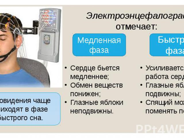 Электроэнцефалограф отмечает: Электроэнцефалограф отмечает: