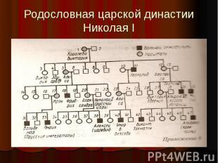 Родословная царской династии Николая I