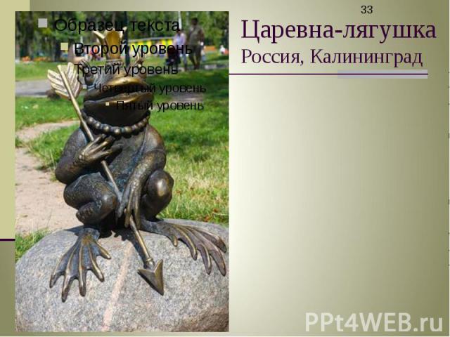 Царевна-лягушка Россия, Калининград