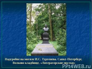 Надгробие на могиле И.С. Тургенева. Санкт-Петербург, Волково кладбище, «Литерато
