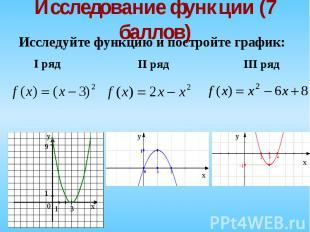 Исследуйте функцию и постройте график: Исследуйте функцию и постройте график: