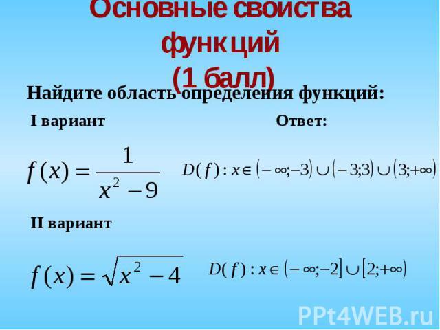 Найдите область определения функций: Найдите область определения функций: