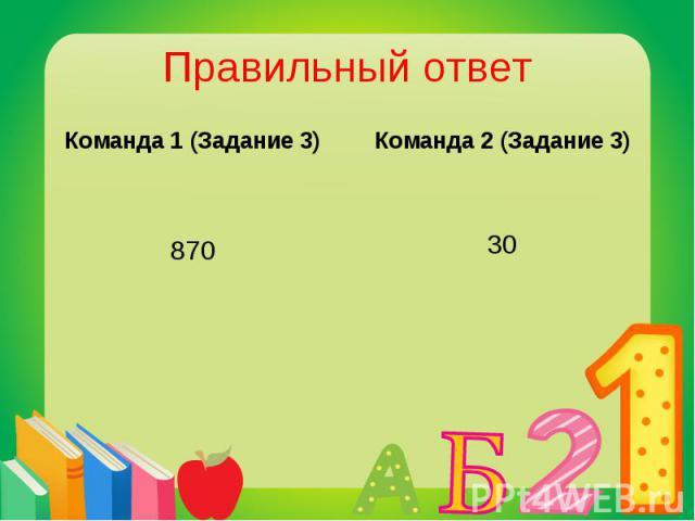 Команда 1 (Задание 3) Команда 1 (Задание 3) 870