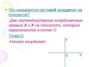 Что называется системой координат на плоскости? Что называется системой координа