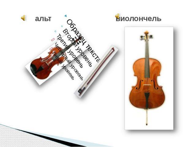 альт виолончель