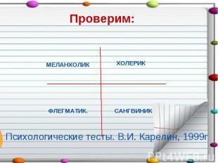 Психологические тесты. В.И. Карелин, 1999г